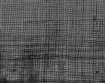 Treasure Hunt by Marcia Derse in Smoke Screen, Windham Fabrics, Gray and Black Fabric, Linear Fabric, Screen Fabric, Black and Gray Fabric