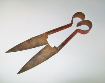 Vintage Sheep Shears Rusty Metal Farmhouse Industrial Salvage 1940's