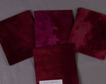 Fall Red Hand-Dyed Quilting Cotton Fat Quarter