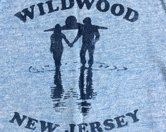 vintage wildwood new jersey tshirt, M cotton/poly blend.