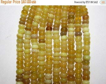 "Natural Yellow Opal Round Shape Beads Size 9X11 mm Lenght 17 ""inch"