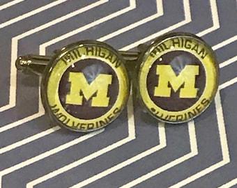 University of Michigan Wolverines cufflinks- 16mm