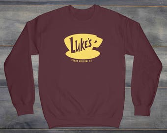 Gilmore Girls, Gilmore Girls TV Show, Luke's Diner Sweatshirt, Luke's Coffee Mug, Gilmore Girls Fan, Lorelai, Rory, Stars Hollow, Luke's