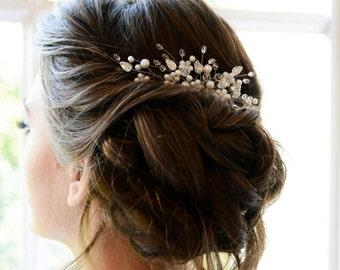 Pearl Bridal hair comb, Pearl Bridal headpiece, Bridal hair piece, Wedding hair piece, Wedding headpiece, Wedding hair comb