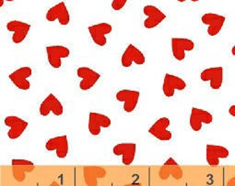 Windham Basics - Brights Hearts Red from Windham Fabrics