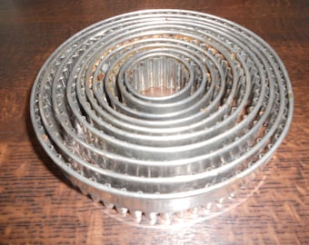 1930s / 40s Set of Pastry Cutters In original Tin