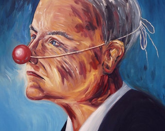 surreal portrait, Faces, Red Nose Businessman M 1 Original, modern artwork