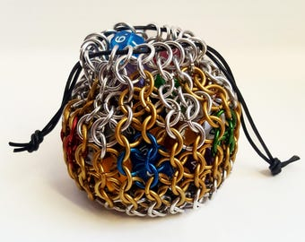 """Chainmaille Dice Bag - """"King's Ransom"""""""
