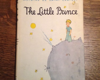 The Little Prince book, Antoine de Saint-Exupery, hardcover, 1943 - Vintage Book, Classic Book, Children's Book, Collectible Book