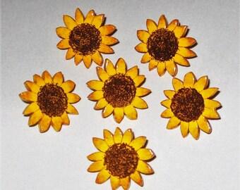 Sunflower Push Pins, Sunflower Thumb Tacks, Bulletin Board Push Pins, Sunflower Themed, Sunflower Decor, Sunflower Cork Board, Hand Painted