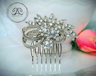 Bridal comb, bridal hair comb, wedding hair comb, crystal bridal comb, rhinestone hair comb, bridal accessories, crystal hair piece