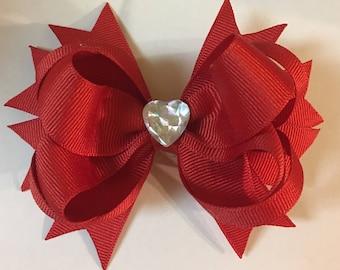 True Red Valentine's Bow