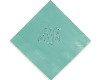 Traditional Embossed Monogram Napkins, Monogram Guest Towels, Wedding Napkins, Party Napkins, Custom Monogram, Assorted Colors