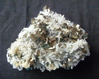Big Quartz Cluster With Pyrite Cubes, 9x8 cm,