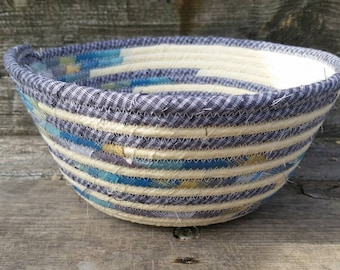 Buttercream Fabric Coiled Basket