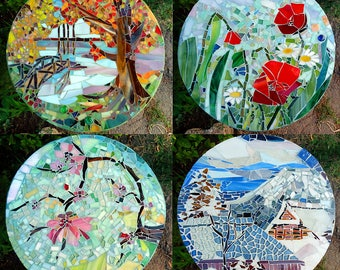 Four seasons mosaic
