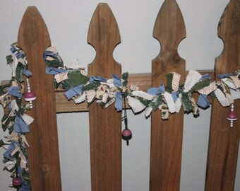 Fishing lure fabric garland