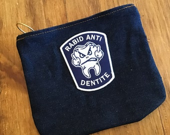 Raw Denim Accessory bag.