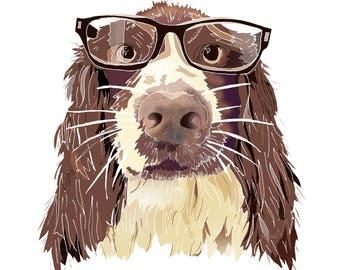 Pet Portrait Illustration, Custom Drawing