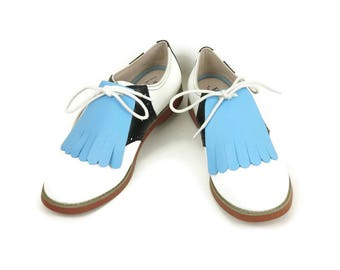 Baby Blue Kilties for Womens Golf Shoes Swing Dance Shoes Swing Shoes Lindy Hop Best Golf Shoes, Golf Gifts for Women, Golf Accessories