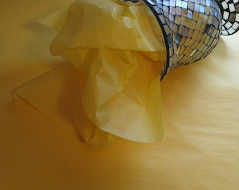 """10 Sheets of Yellow Tissue Paper (20"""" x 26"""")"""