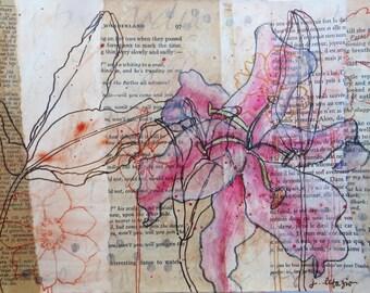 Pink Stargazer ~ original artwork inspired by Frida Kahlo's journal