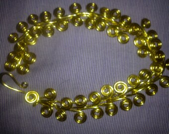GOLD SPIRAL WIRE bracelet