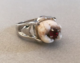 Queen of Hearts Human Tooth Ring