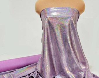 """Spandex Sparkly Jewels mystique..lilac/silver..cheer bows, dance, gymnastics, costume, crafts, pageant 58"""" wide"""