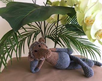 Proboscis monkey crochet, monkey toy, crochet toy, crochet monkey, plush monkey, amigurumi monkey