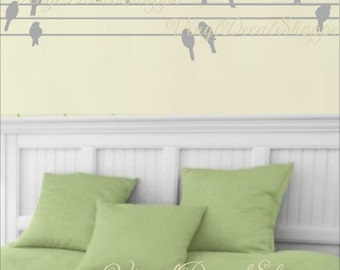 Birds on a Wire Wall Decal, Beautiful Wall Decal, Birds Wall Sticker, Large Decal, Large Wall Decal, Nursery Decal, Kids Room , Living Room