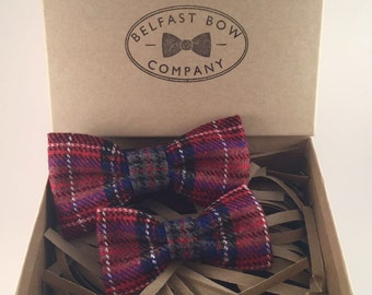 Handmade Father & Son Tartan Bow Tie Gift Set