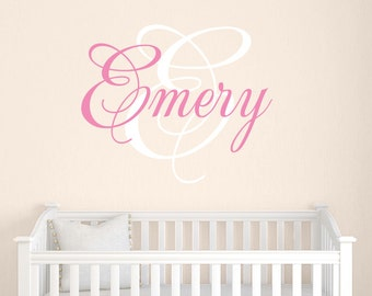Girls Name Decal, Personalized Name Decals, Name Wall Decals, Children Wall Decals, Wall Decor
