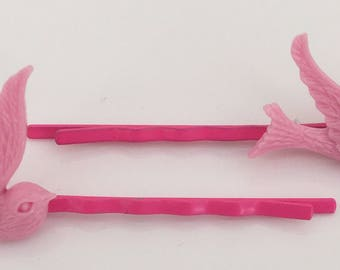 Pink Dove Bobby Pin, Flying Dove Bobby Pin, Kawaii Dove Bobby Pin, Flying Dove