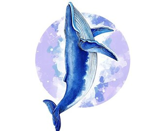 Whale Temporary Tattoos T099