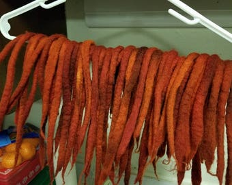 Flame colored Wool Dreads