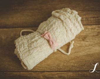 Newborn Tieback & Wrap Set, Newborn Photo Prop, Newborn Wrap, Newborn Photography, Baby Headband
