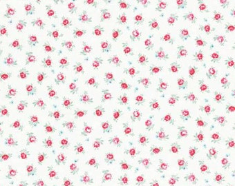 Flower Sugar Spring 2015 Pink Roses Cotton Fabric  by Lecien 31131-10 Cream
