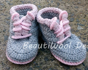 Baby Lace-Up Boots with Fake Fur Trim