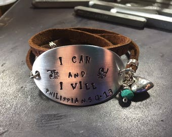 I can and I will triple wrap bracelet