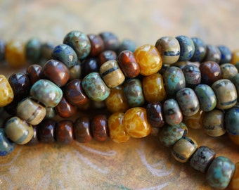NEW Stock..Aged Picasso, Seed Beads, Seed Beads, Beads