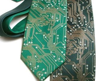 Science Gift, Circuit Board Tie, Skinny Tie, Anniversary Gift, Engineer, Computer Science, Programmer, Science Tie,