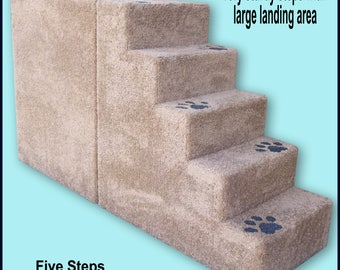 Pet Steps 30 high with large landing area. 30Hx16Wx54D. Very sturdy, Built to last