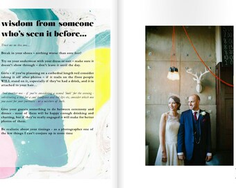 Magazine for Photographers. Digital Adobe InDesign Template - Planning your Wedding Photography magazine for clients. Blurb template.