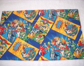 Super Heroes travel pillowcase