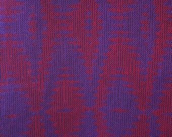 100% Merino Scarf Hand Woven in Red and Purple in 12 Harness Turned Taquete