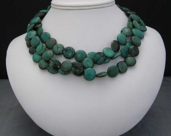 Turquoise Three Strand Necklace