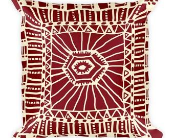 Two Tone Tribal Design Square Pillow