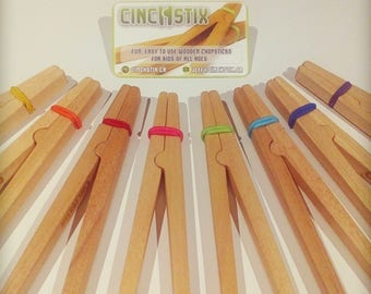 CinchStix - RAINBOW SET, Kids Chopsticks, Fun,Easy to use Chopsticks for kids of all ages