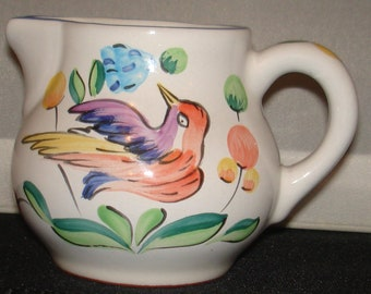 Herend Village Pottery creamer/pitcher handpainted Hungary